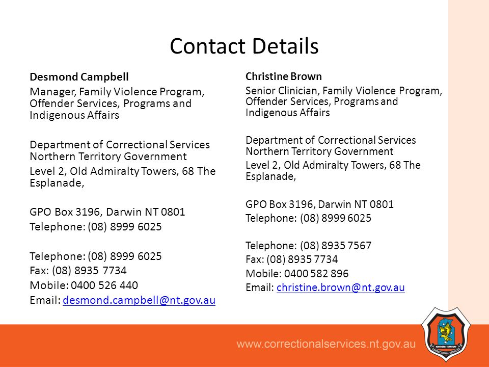 Contact Details.