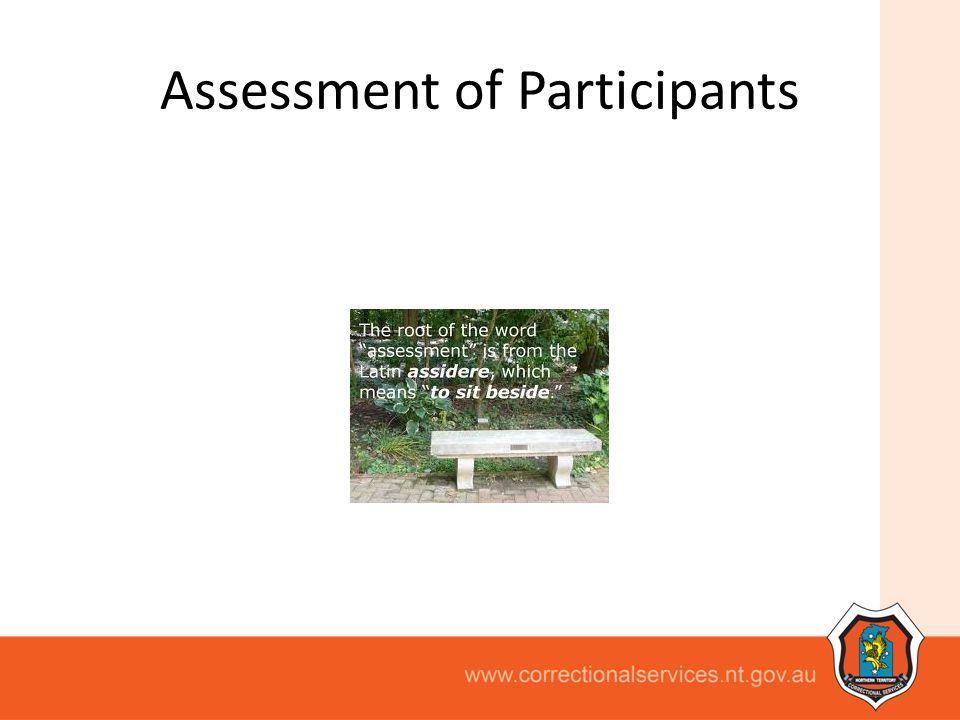 Assessment of Participants