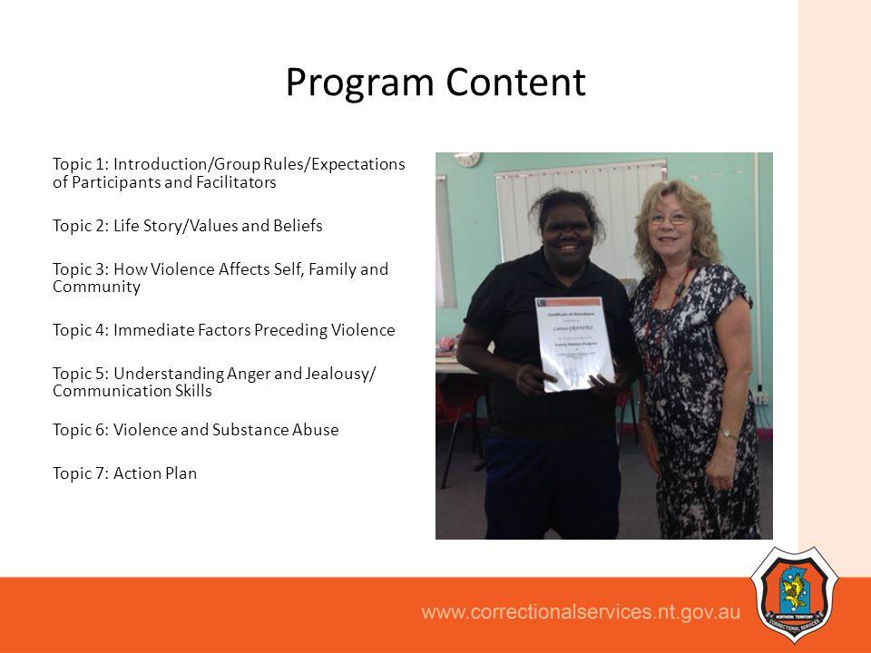 Program Content.