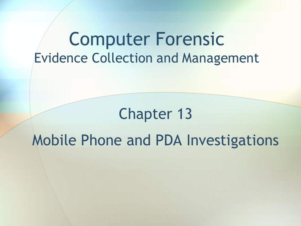 Computer Forensic Evidence Collection and Management