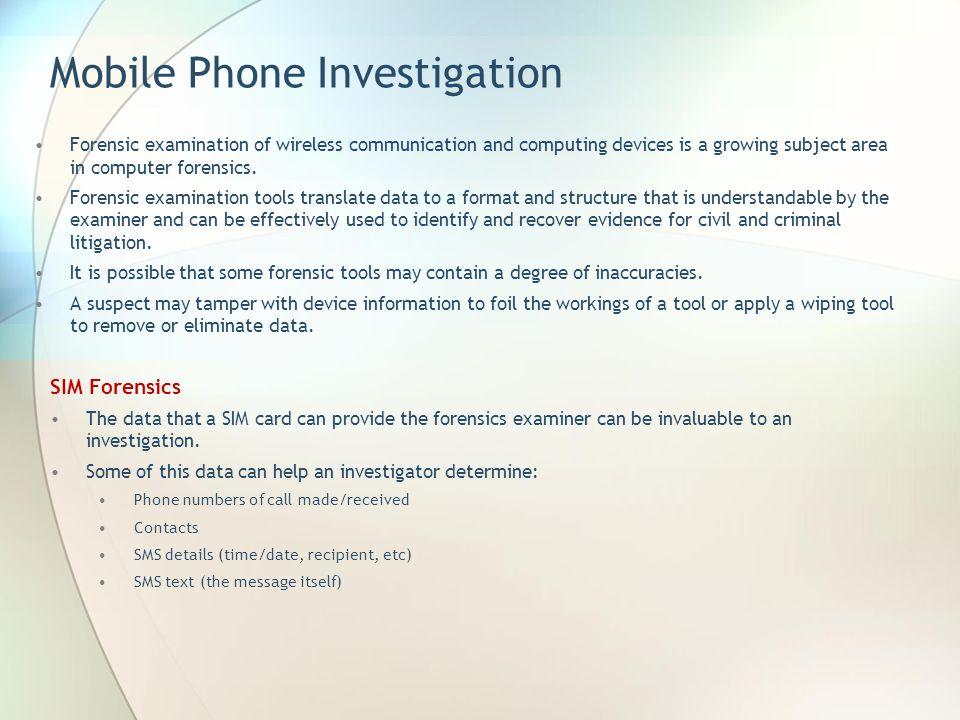 Mobile Phone Investigation