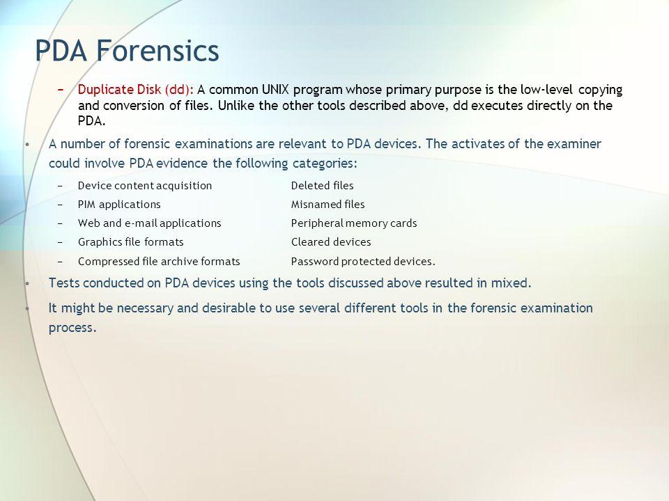 PDA Forensics