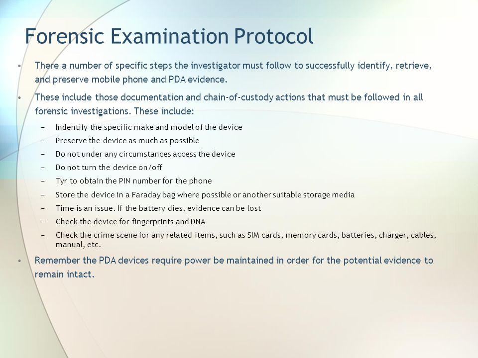 Forensic Examination Protocol