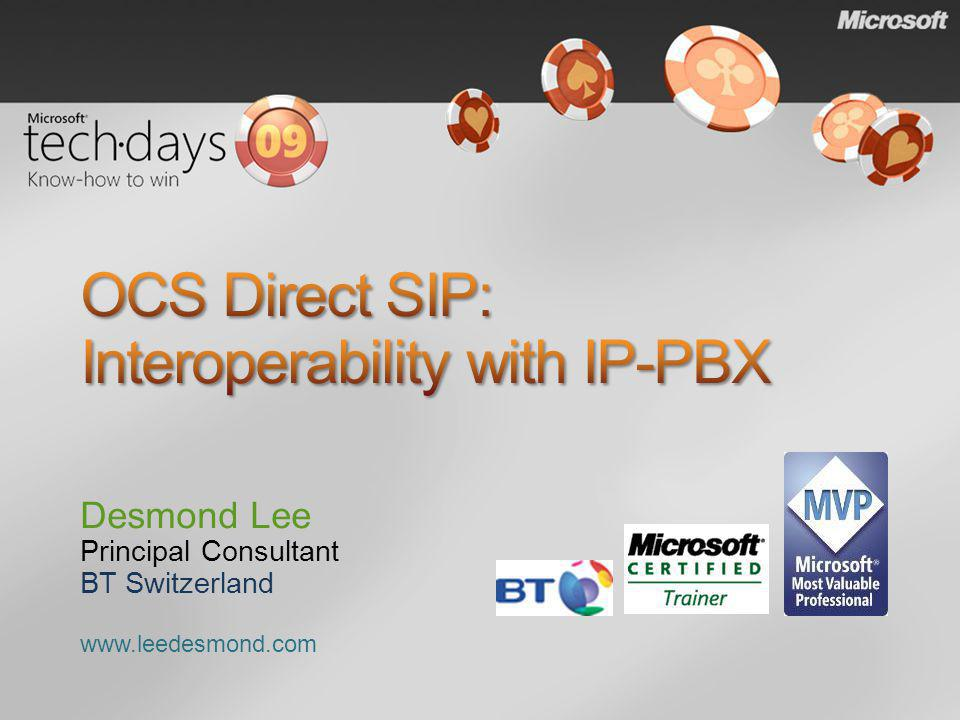 OCS Direct SIP: Interoperability with IP-PBX