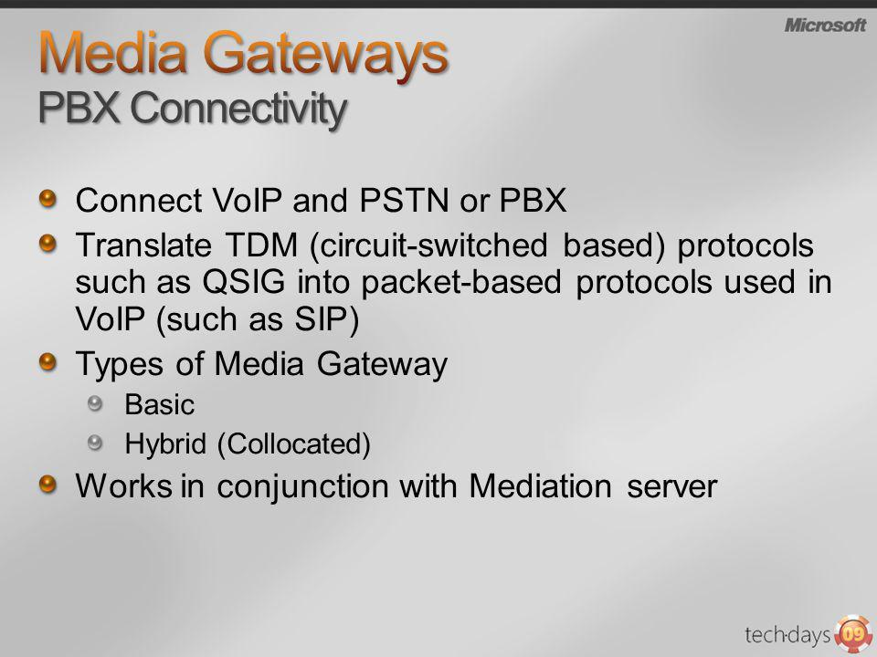 Media Gateways PBX Connectivity
