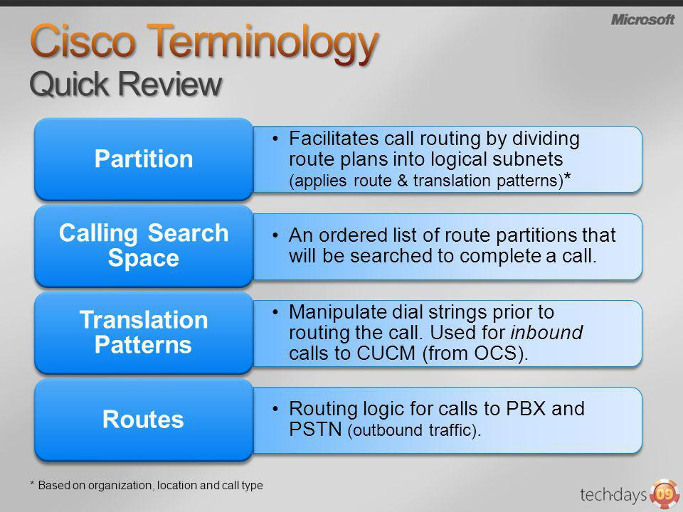 Cisco Terminology Quick Review