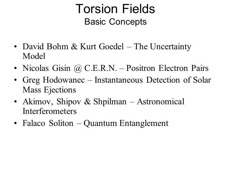 Torsion Fields Basic Concepts