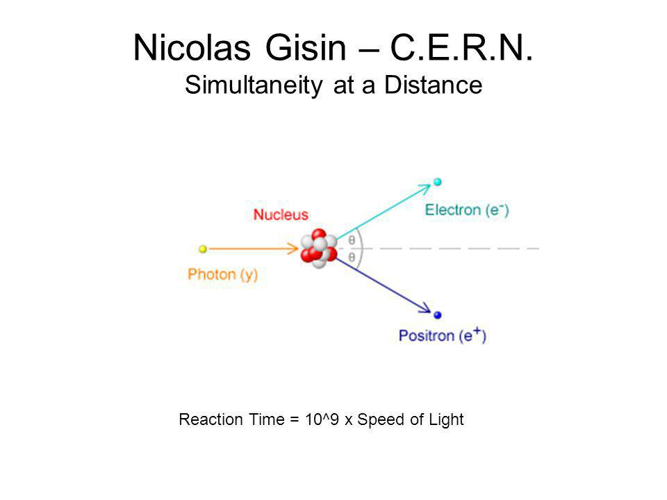 Nicolas Gisin – C.E.R.N. Simultaneity at a Distance