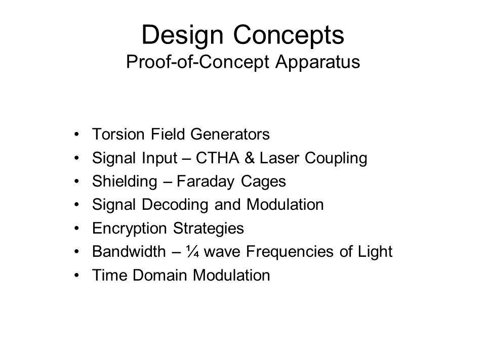Design Concepts Proof-of-Concept Apparatus