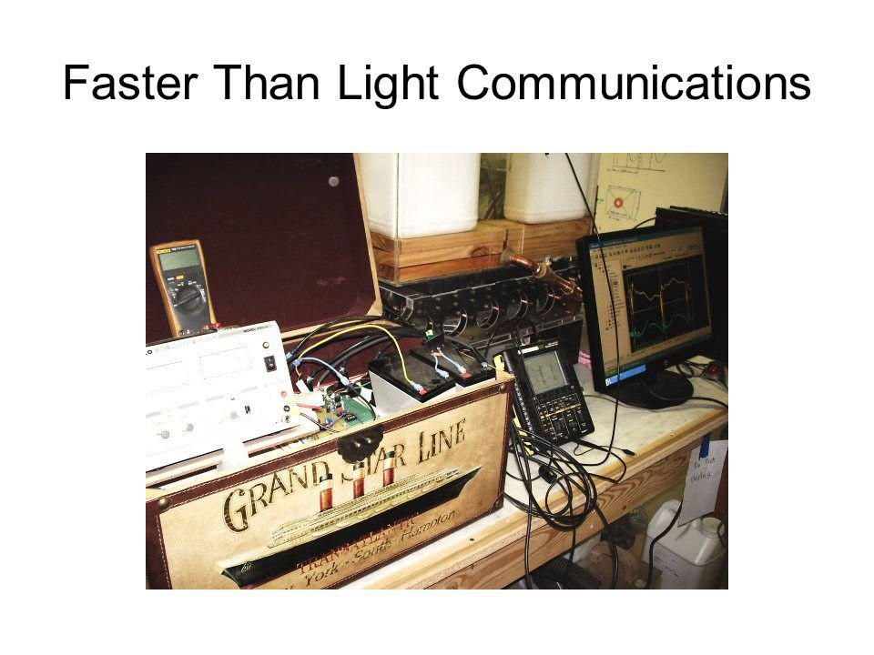 Faster Than Light Communications