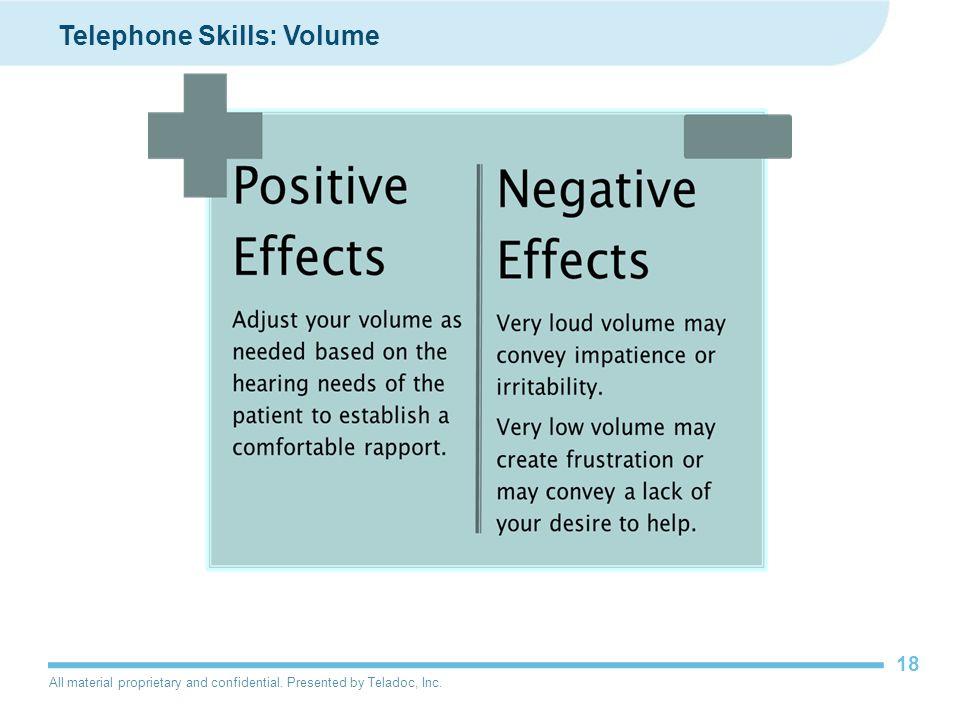 Telephone Skills: Volume
