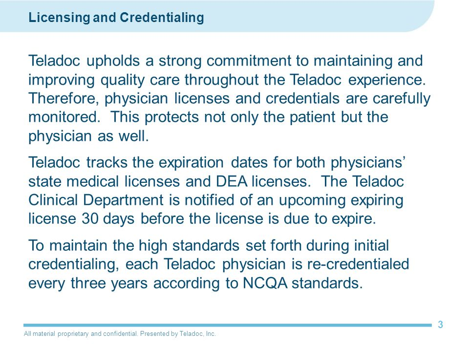Licensing and Credentialing