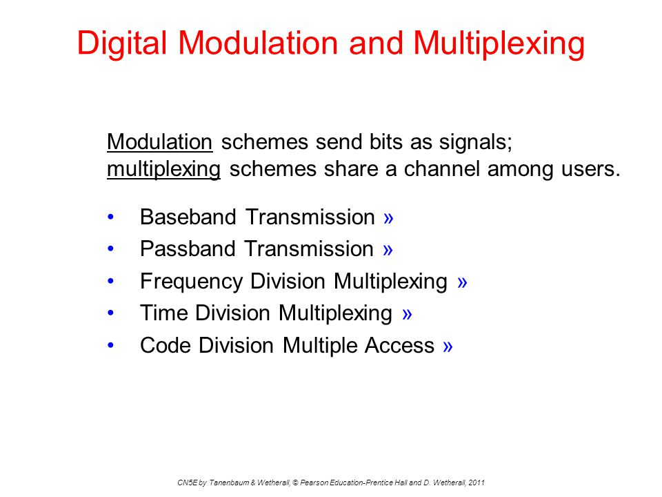 Digital Modulation and Multiplexing