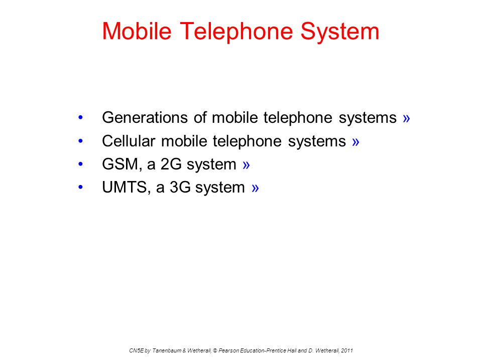 Mobile Telephone System