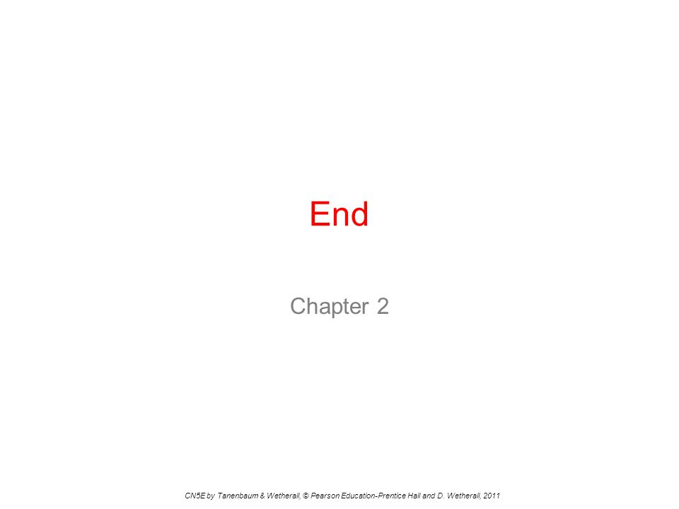 End Chapter 2. CN5E by Tanenbaum & Wetherall, © Pearson Education-Prentice Hall and D.