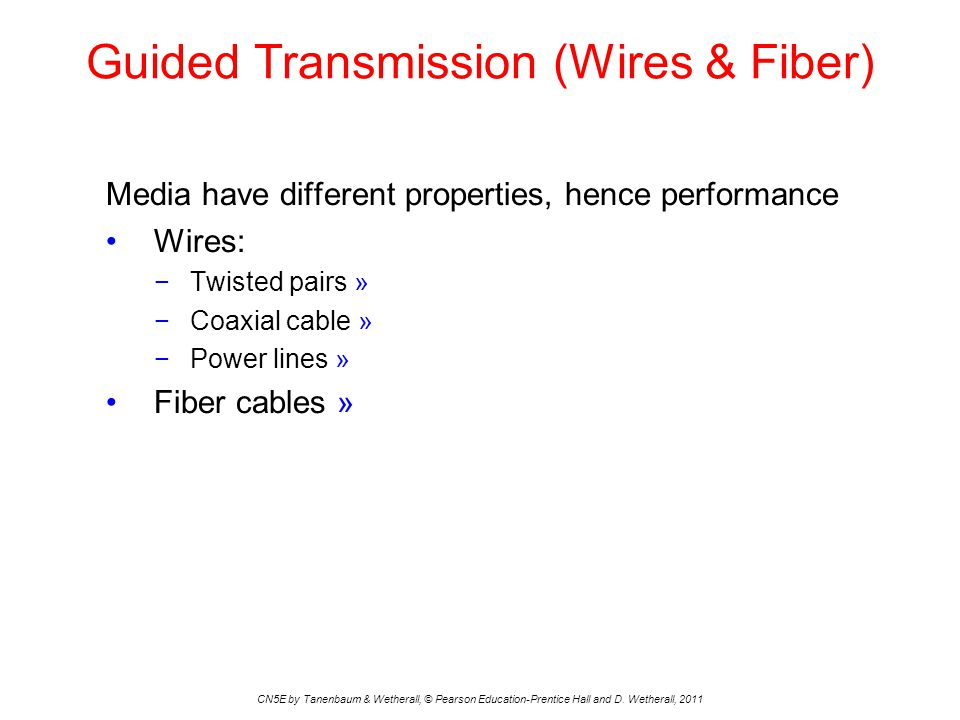 Guided Transmission (Wires & Fiber)