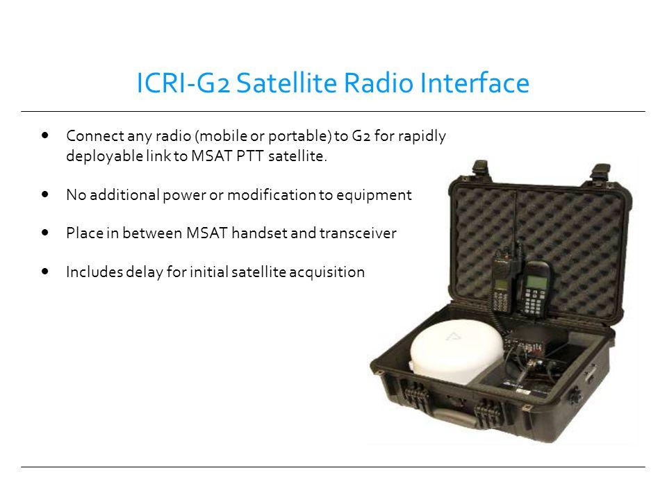 ICRI-G2 Satellite Radio Interface