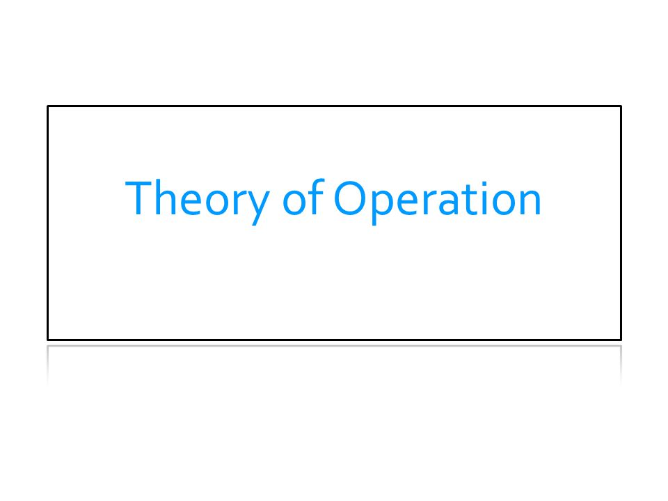 Theory of Operation THEORY OF OPERATION.