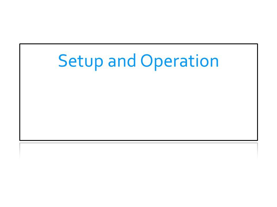 Setup and Operation THEORY OF OPERATION.