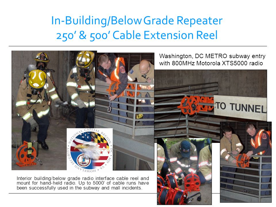 In-Building/Below Grade Repeater 250' & 500' Cable Extension Reel