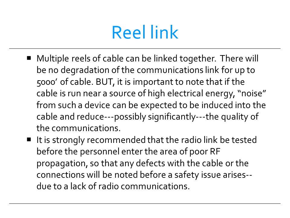 Reel link