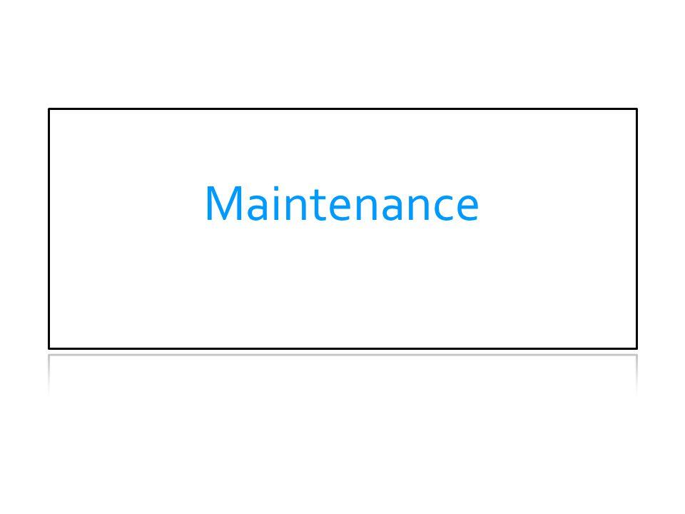 Maintenance MAINTENANCE