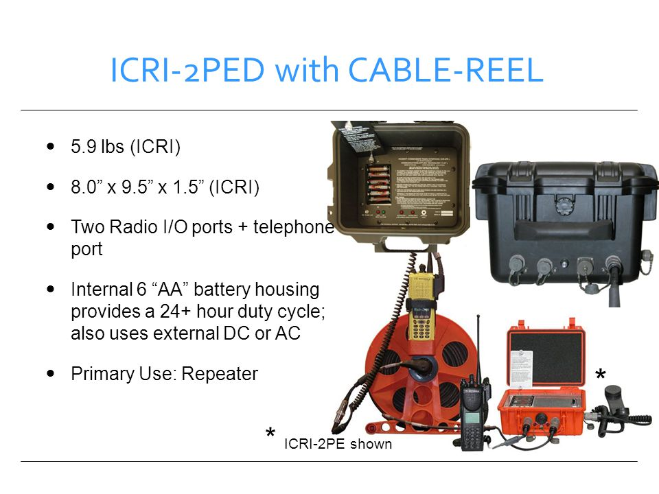 ICRI-2PED with CABLE-REEL