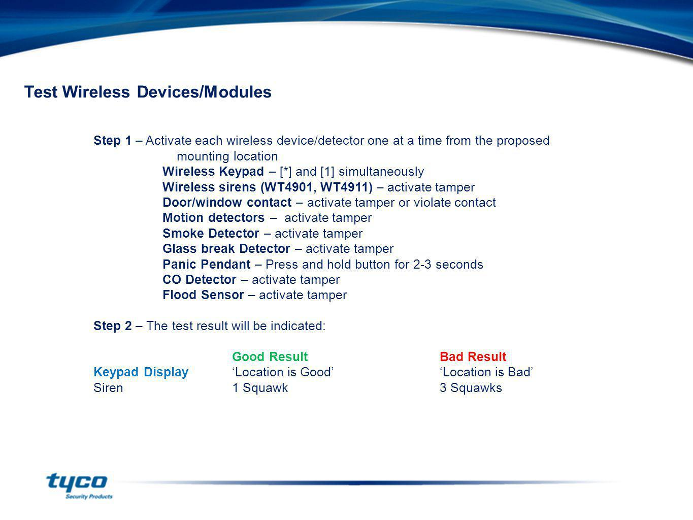 Test Wireless Devices/Modules