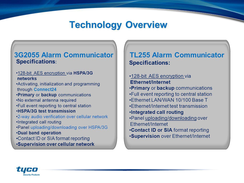 Technology Overview 3G2055 Alarm Communicator TL255 Alarm Communicator