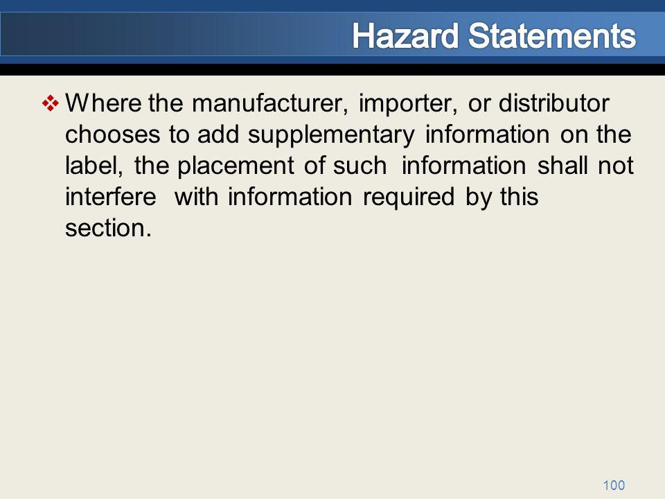 Hazard Statements