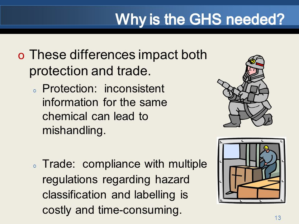 Why is the GHS needed These differences impact both protection and trade.