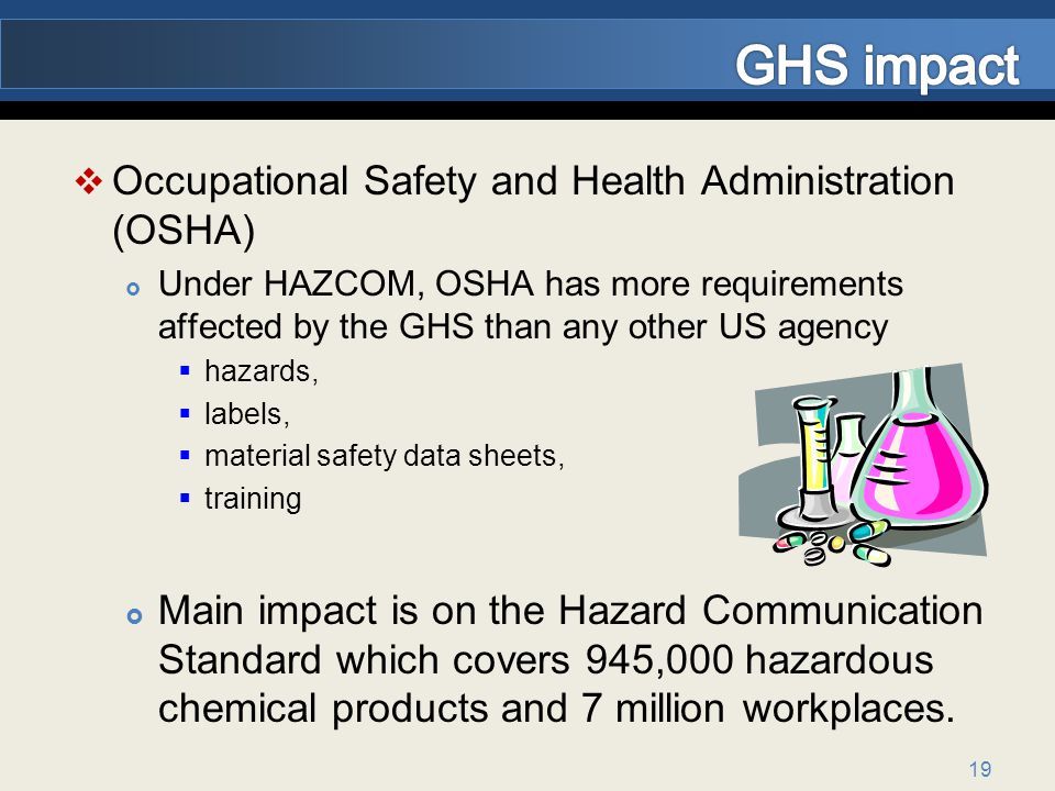 GHS impact Occupational Safety and Health Administration (OSHA)
