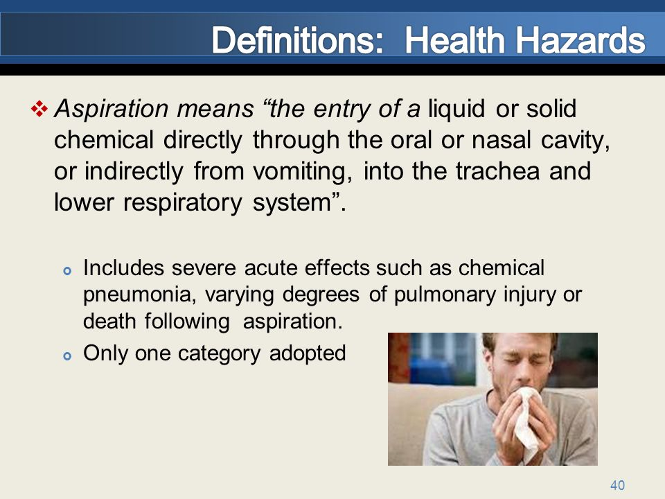 Definitions: Health Hazards