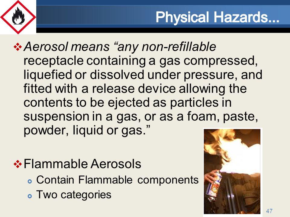 Physical Hazards...