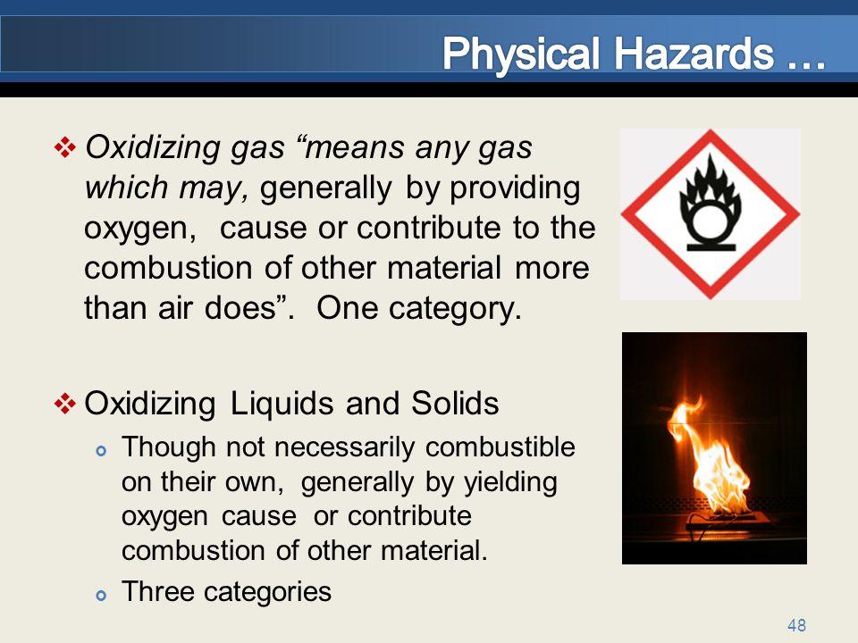 Physical Hazards …