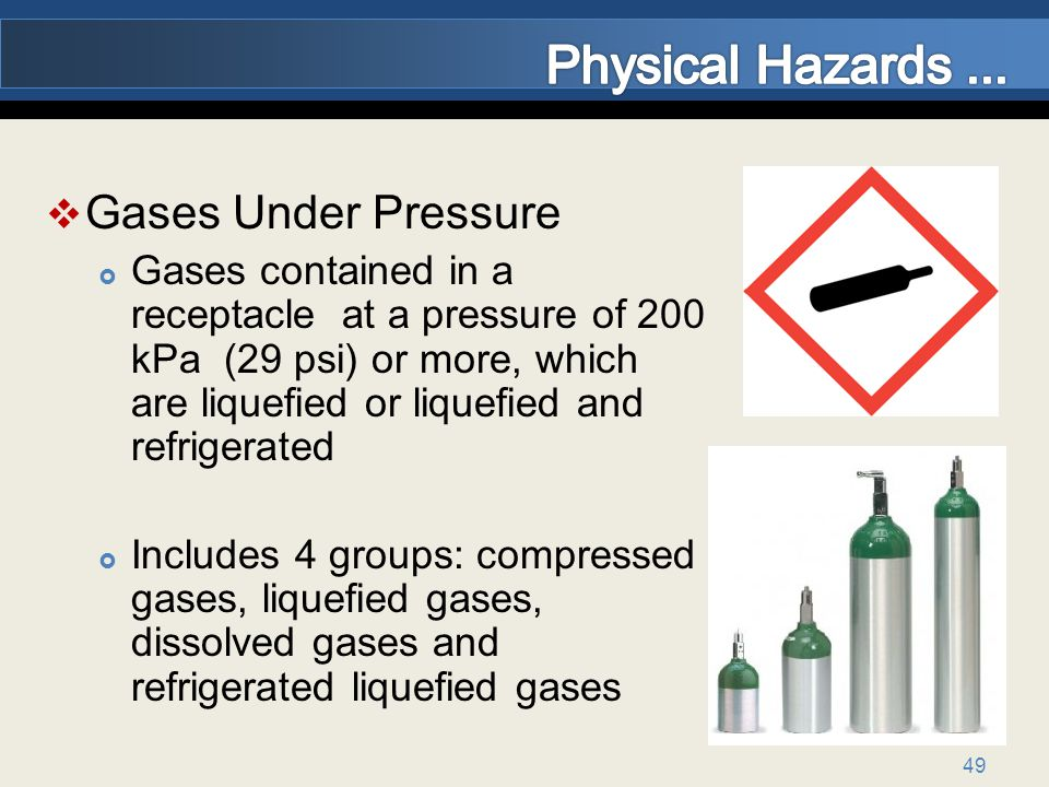 Physical Hazards ... Gases Under Pressure