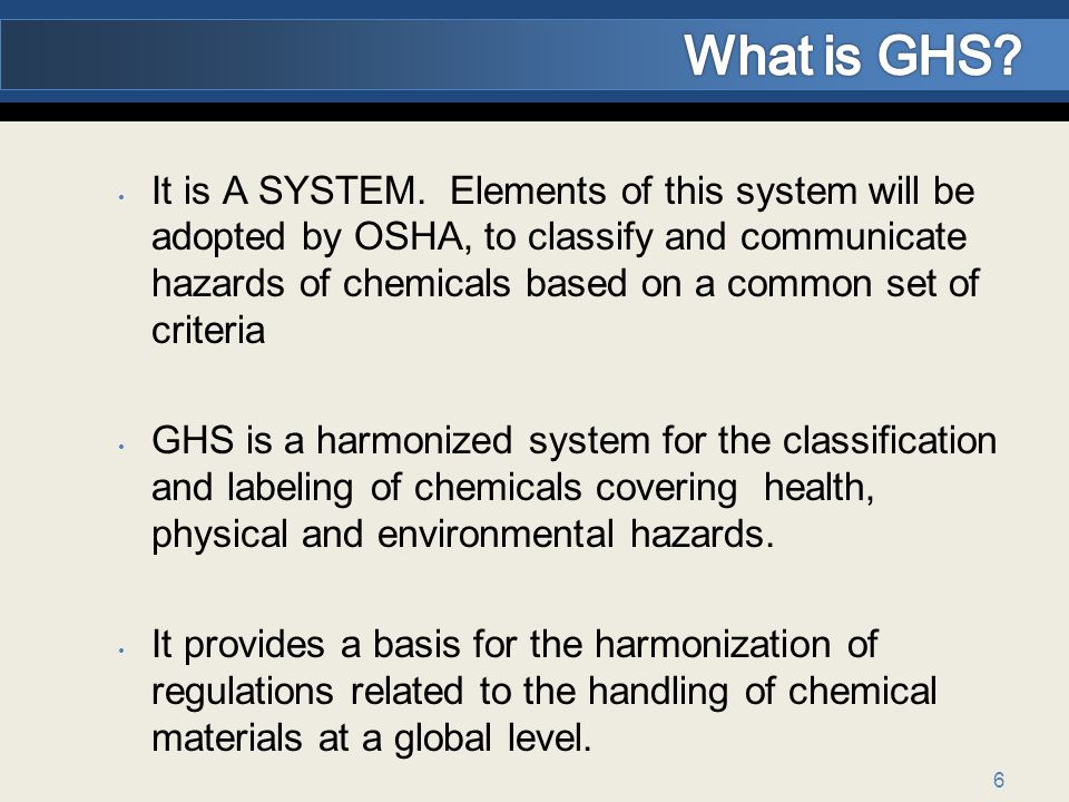 What is GHS
