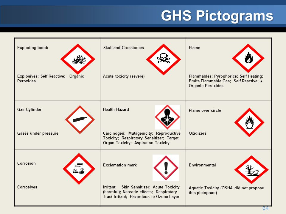 GHS Pictograms Exploding bomb