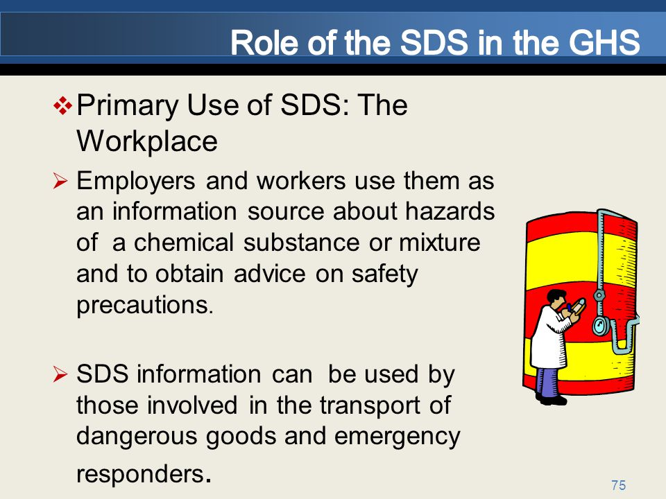 Role of the SDS in the GHS