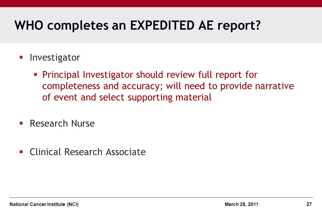 WHO completes an EXPEDITED AE report