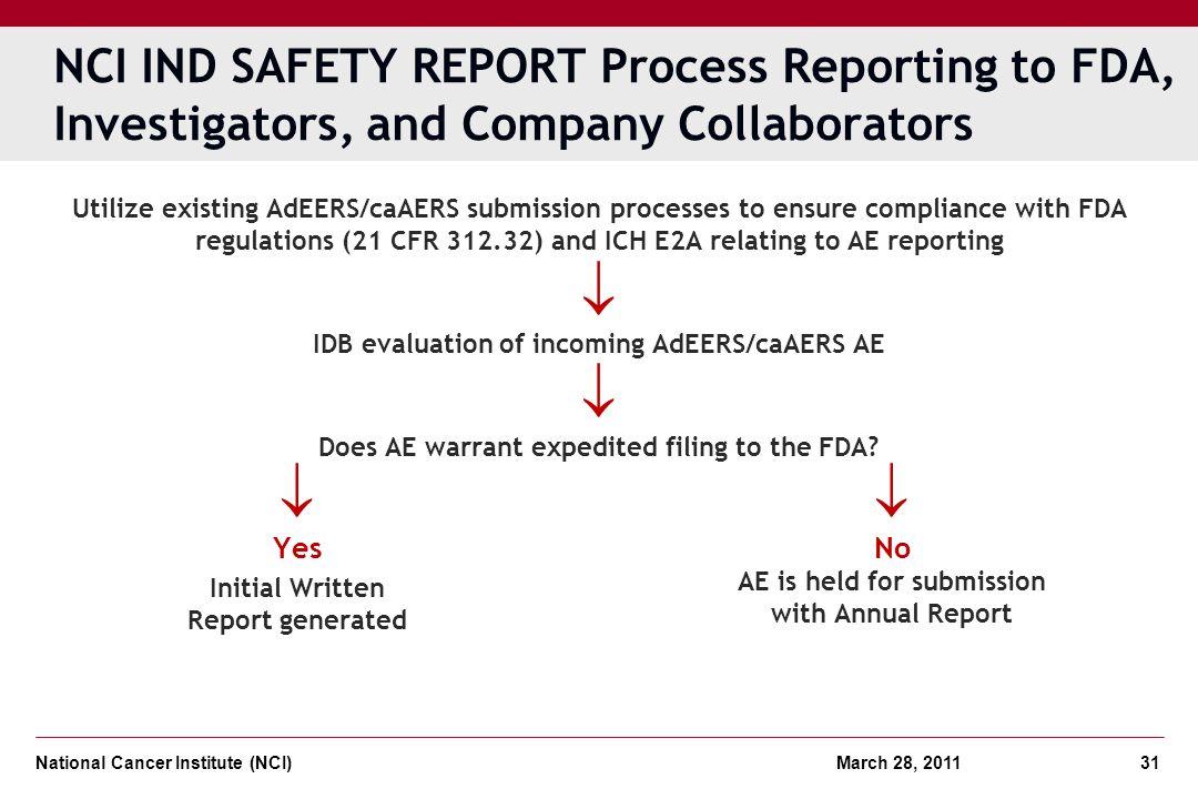  IDB evaluation of incoming AdEERS/caAERS AE