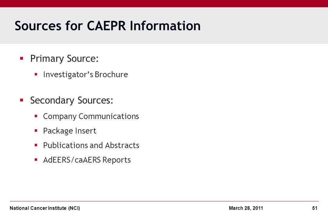 Sources for CAEPR Information