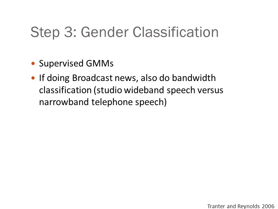 Step 3: Gender Classification