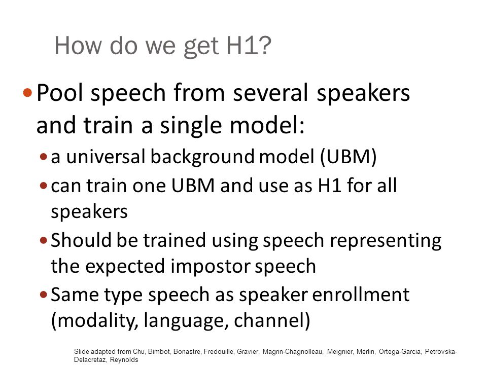 Pool speech from several speakers and train a single model: