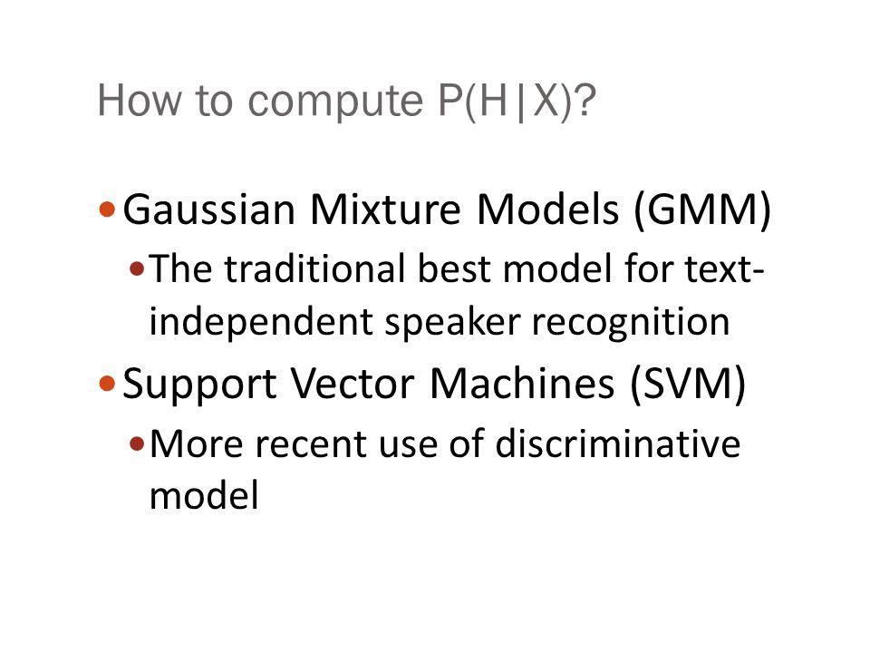 Gaussian Mixture Models (GMM)