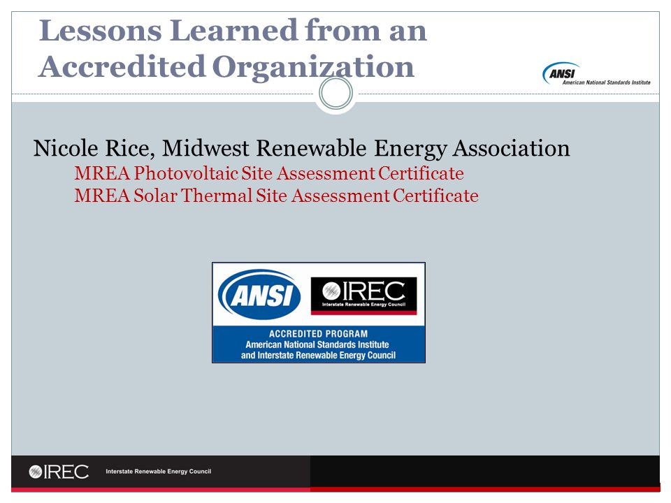 Lessons Learned from an Accredited Organization