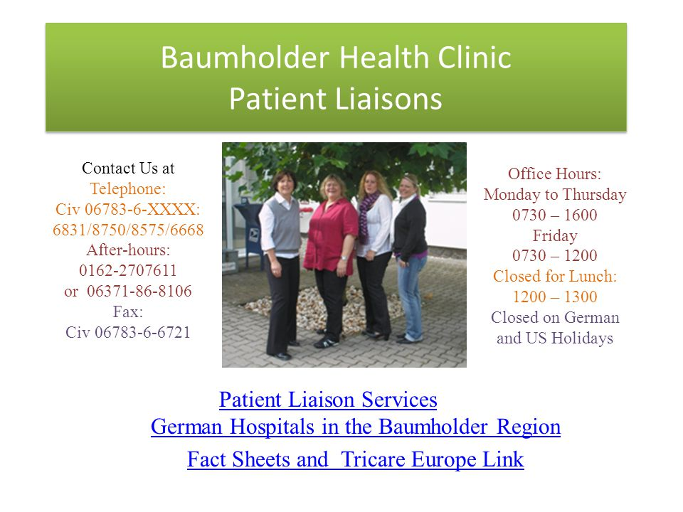 Baumholder Health Clinic Patient Liaisons