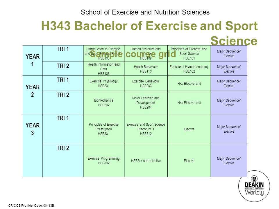 H343 Bachelor of Exercise and Sport Science