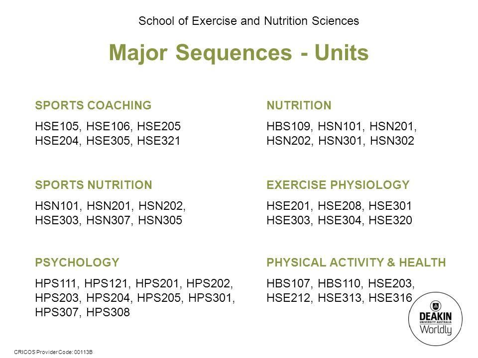 Major Sequences - Units