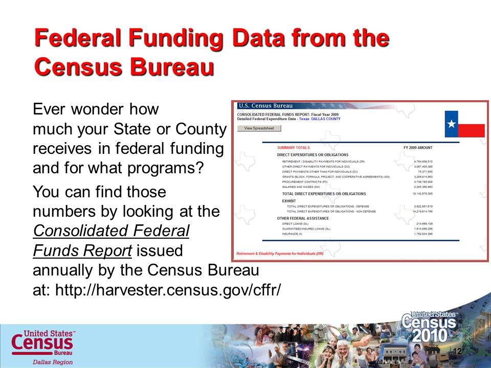Federal Funding Data from the Census Bureau